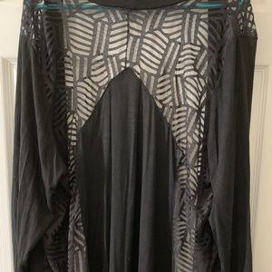 Lace back knit cardigan